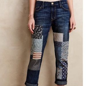 CURRENT ELLIOTT The Fling Loved Multi Patch Jeans